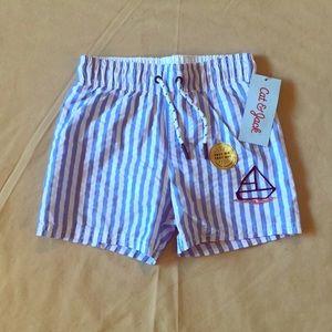 Cat & Jack Handsome Blue & White Sailor Shorts